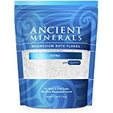 Ancient Minerals Magnesium Bath Flakes Ultra with OptiMSM - Resealable Magnesium Supplement Bag of Zechstein Chloride…