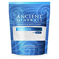 Ancient Minerals Magnesium Bath Flakes Ultra with OptiMSM - Resealable Magnesium...