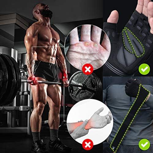 Trideer Workout Gloves Men, Gym Gloves