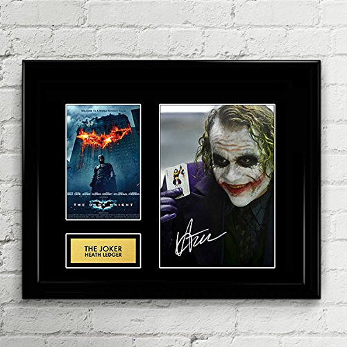 - Heath Ledger The Joker Dark Knight Signed Autographed Photo Mat Custom Framed 11 x 14 Replica Reprint Rp