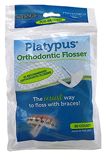 Platypus Orthodontic Flosser, 30 Count (Pack of 3)