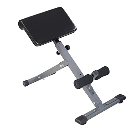 Goplus Adjustable AB Back Bench Hyperextension Exercise Abdominal Roman  Chair