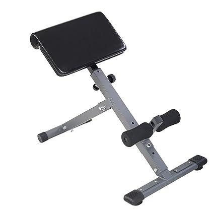 Groovy Goplus Adjustable Ab Bench Hyperextension Exercise Abdominal Roman Chair Ibusinesslaw Wood Chair Design Ideas Ibusinesslaworg