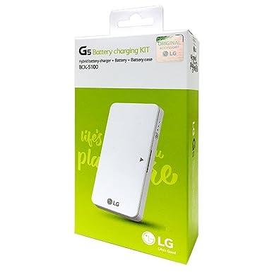 Cargador de batería LG Standard battery charging Dock Cradle Kit de Cargador de repuesto (Hybrid + Batería + Case + Cable de datos) bck-5100 para LG ...