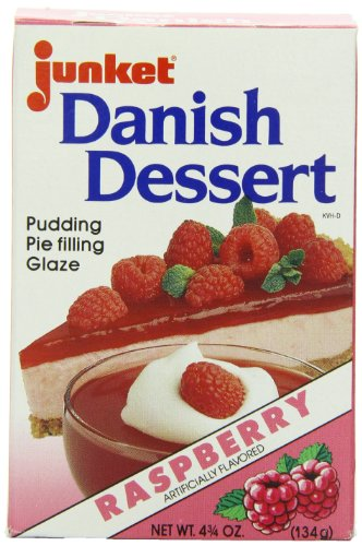 Junket Danish Dessert Raspberry, 4.75-Ounce (Pack of -