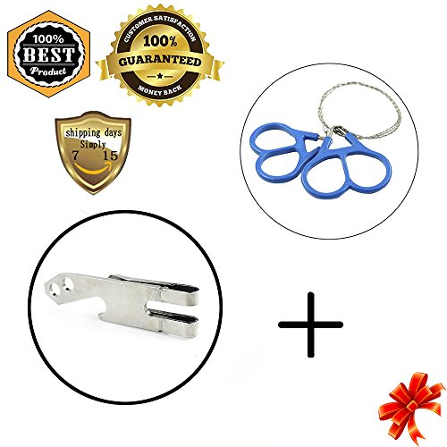 MeanHoo Survival Wire Saw Emergency Fretsaw Camping Hunting - Tin Thermometer Bear