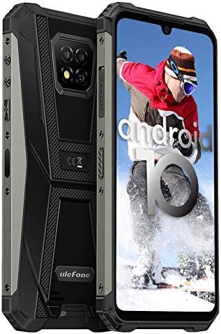 Rugged Smartphone Unlocked, Ulefone Armor 8 4GB + 64GB Android 10, 16MP Triple Waterproof Camera, IP68/IP69K Durable, 6.1 inch HD+, 4G Dual SIM, 5580mAh Battery, NFC, OTG, Fingerprint Face ID, Black WeeklyReviewer