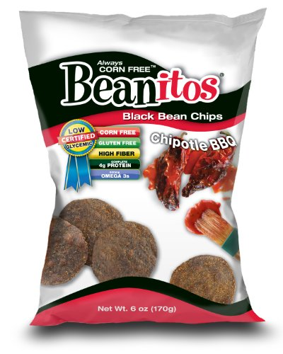 Beanitos Always Corn Free Black Bean Chips, Chipotle Bbq, 6-Ounce (Pack of 9)