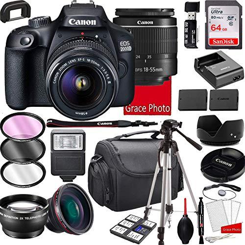 Canon EOS 2000D (Rebel T7) DSLR...