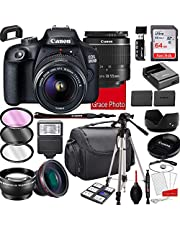 Canon EOS 2000D (Rebel T7) DSLR Camera with 18-55mm f/3.5-5.6 Zoom Lens , 64GB Memory,Case, Tripod and More (28pc Bundle)