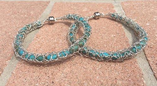 Crochet Turquoise Bracelet