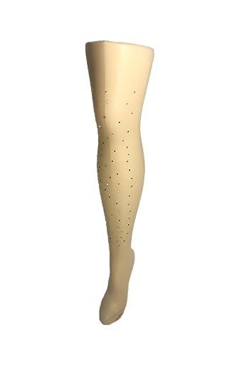 Tan Rhinestoned Sheer Pantyhose