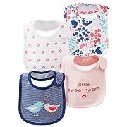 Carter's Bibs - Pink Navy Little Sweetheart - Girl - 4 ct