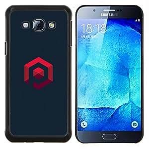 LECELL--Funda protectora / Cubierta / Piel For Samsung Galaxy A8 A8000 -- mi propio logo --
