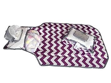Pañal embrague - púrpura y blanco de Chevron