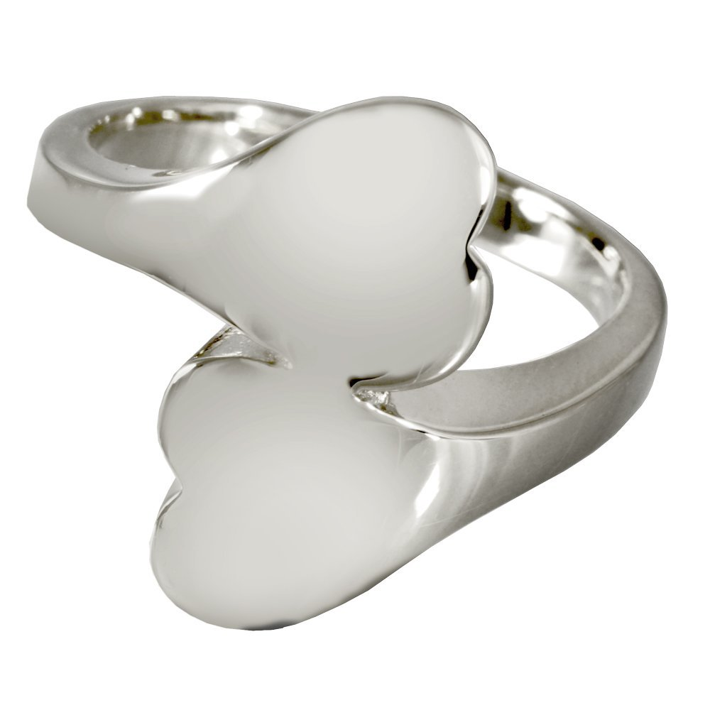 Memorial Gallery 2016s-7 Companion Heart Ring Sterling Silver Cremation Pet Jewelry, Size 7 by Memorial Gallery