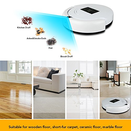 Cooclean Robotic Vacuum Sweeper Home Smart Cleaning Robot Floor Cleaner  Auto Vacuum Microfiber Dust Cleaner Automatic Sweeping ...