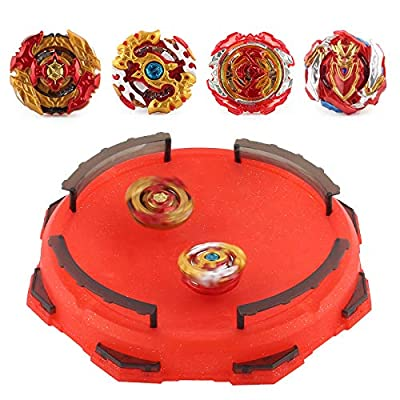 Bey Gyros Battling Top Burst Set -- Grip Launcher and Stadium Arena (Red Editio): Toys & Games