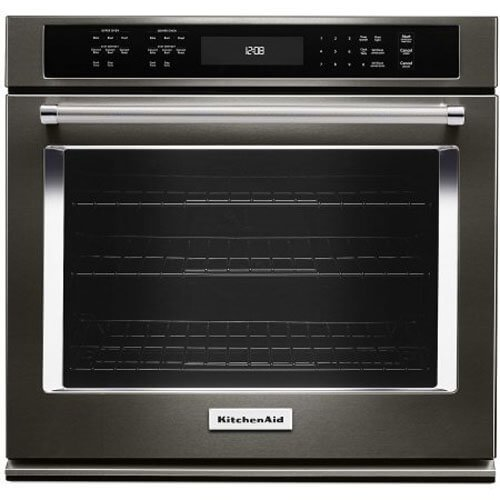 KitchenAid KOSE507EBS - Oven - built-in - niche - width: 25.5 in - depth: 23.9 in - height: 28 in - with self-cleaning - black stainless