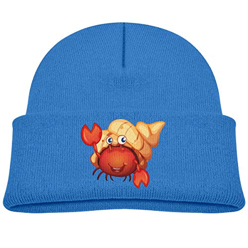 (OlaTd Kids Beanie Knit Hat Crab Cute Warm Cotton Soft Cap Blue)