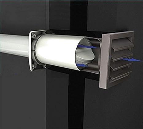 Sehr AEROBOY Energiespar Mauerkasten Ø 125/150 mm Edelstahl/Kunststoff NT64