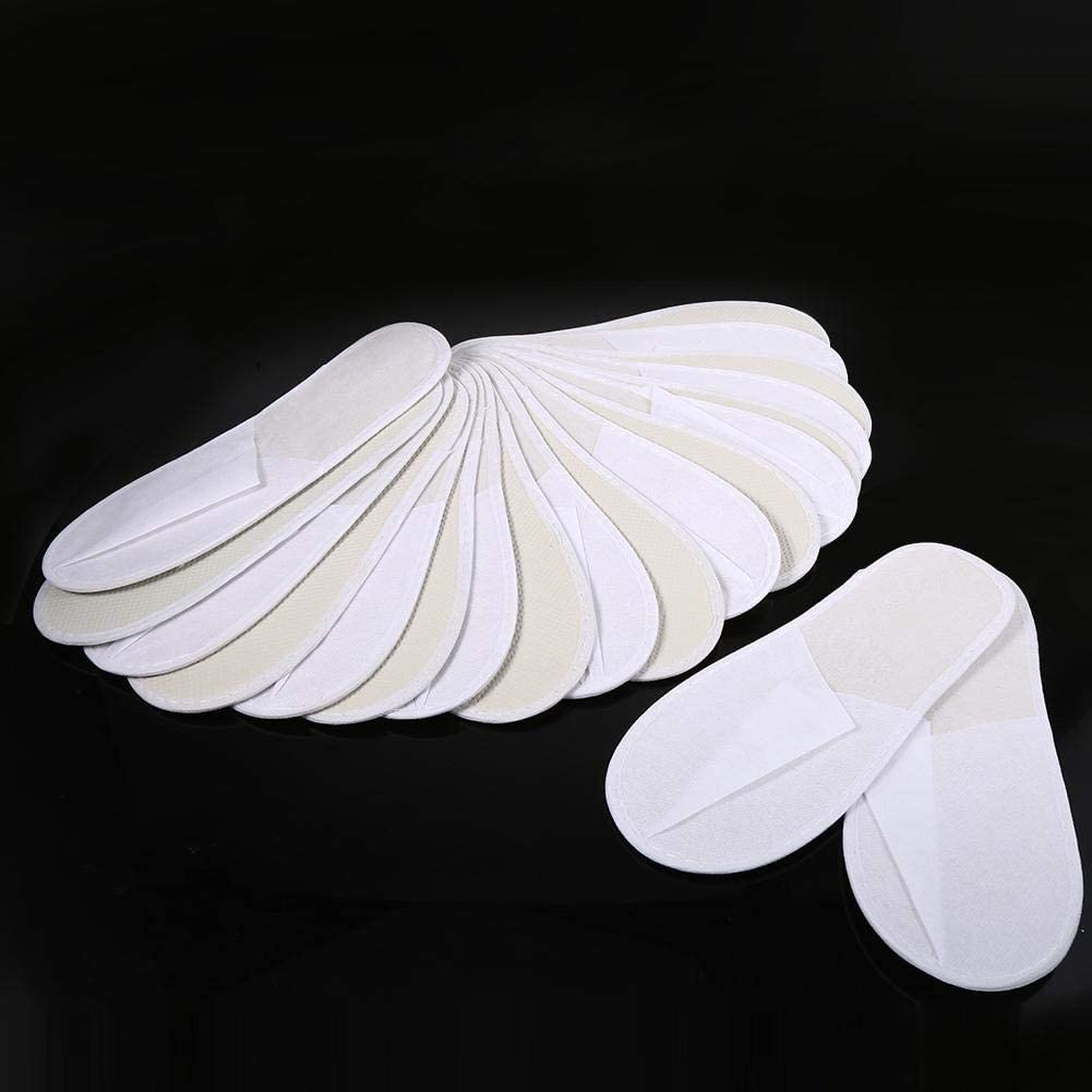 Beennex Disposable Slippers Guest,10-Pair Disposable Slippers - Closed Toe Spa Slippers for Men and Women Slippers for Hotel, Home, Guest Use