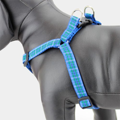 Plaid Step In Dog Harness, Douglas Tartan