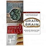 Autoimmune paleo cookbook, wheat belly, grain brain 3 books collection set