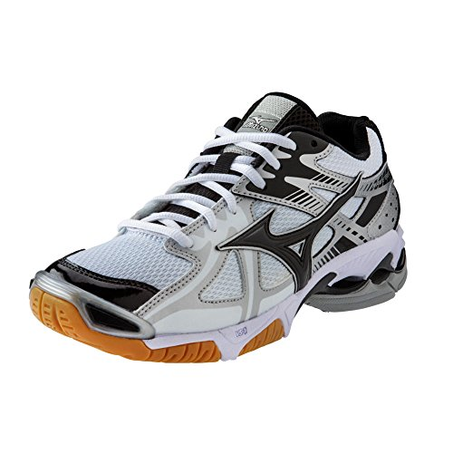 - Mizuno Men's Wave Bolt 4 Volleyball Shoes - White & Black (Men's US Size 14)