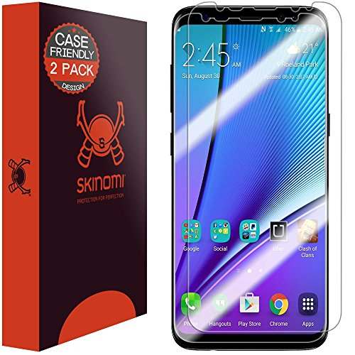 Galaxy S8 Plus Screen Protector (2-Pack,Case Friendly), Skinomi TechSkin Full Coverage Screen Protector for Samsung Galaxy S8 Plus Clear HD Anti-Bubble Film