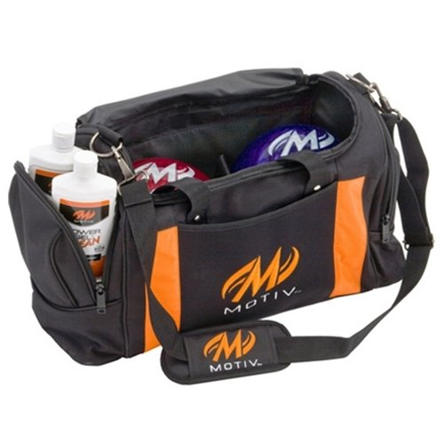 MOTIV Double Deluxe Tote Bowling Bag- Black/Orange () by Motiv