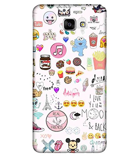 b0278864764 For Samsung Galaxy J5 Prime icon pattern Printed  Amazon.in  Electronics
