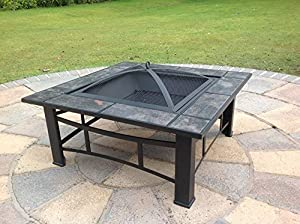 Outdoor Fire Pit Table Patio Heater Metal Decking Firepit Brazier Barbecue  BBQ /B