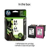 HP 64 | 2 Ink Cartridges | Black, Tri-color