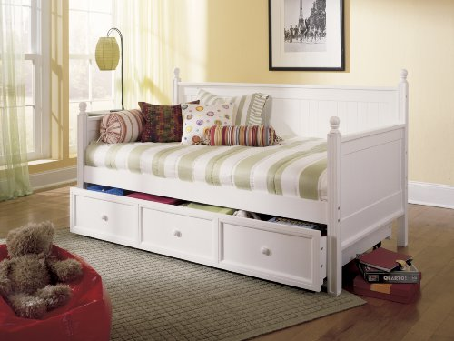 Fashion Bed Group Casey Daybed with Trundle, Softer White
