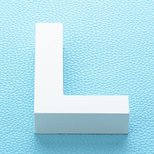 "Large Wooden Hanging Wall Letters ""L"" - White Decorative Wood Letters Wall Letter for Children's Nursery Baby's Room, Baby Name and Girls Bedroom Décor from Takefuns"