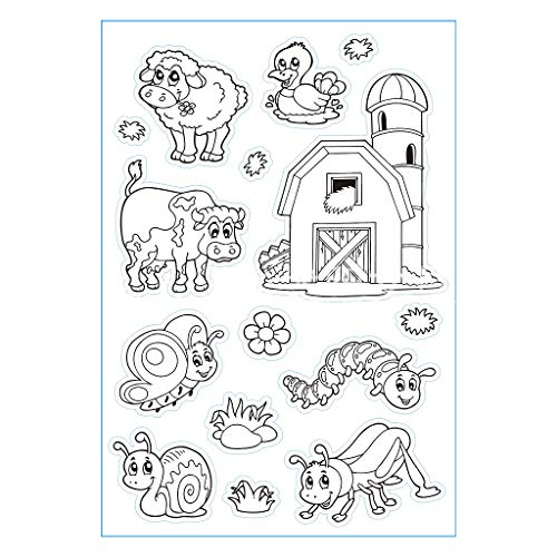 Animals Clear Stamps - TwJim Pattern Transparent Clear Silicone Seal Scrapbooking Photo Album Decorative Stamp Sheets