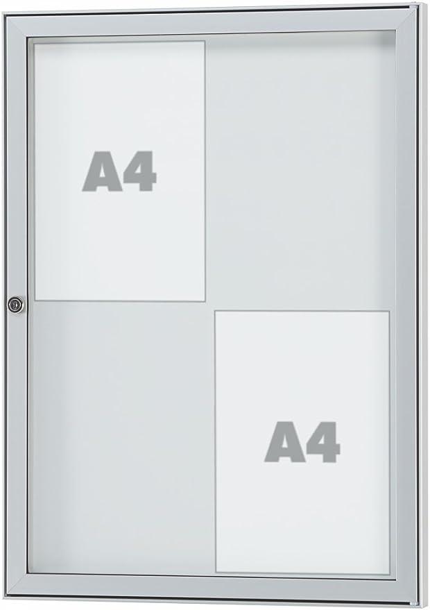 TESUS-Schaukasten2x DIN A4485 x 360 x 30 mmwetterfest außen