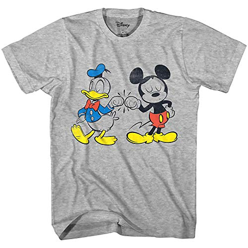 Disney Mickey Mouse Donald Duck Cool Disneyland World Tee Funny Humor Adult Mens Graphic T-Shirt Apparel (Heather Grey, XX-Large) Disney Mickey Mouse Donald Duck