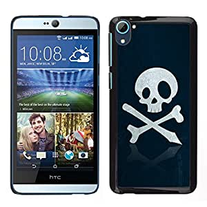 Design for Girls Plastic Cover Case FOR HTC Desire D826 Skull Pirate Sign Emblem Art Bones Slogan OBBA