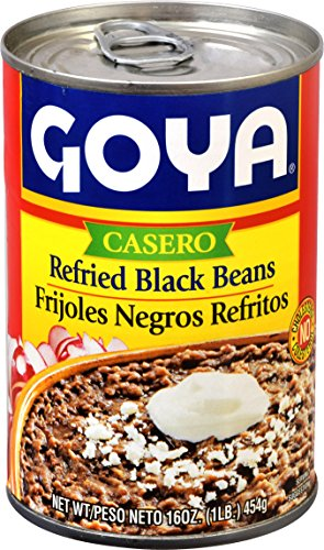 Goya Refried Beans - Goya Foods Refried Black Beans, 16-Ounce (Pack of 12)