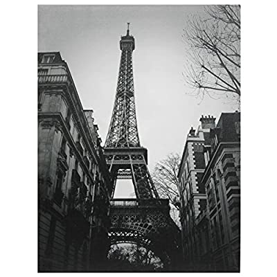 Oriental Furniture Eiffel Tower Sun Glow Canvas Wall Art - Gallery quality, professional black and white photo print The Eiffel Tower with a Paris city block in the foreground Unusual point of view photograph - wall-art, living-room-decor, living-room - 5129GTSIpQL. SS400  -