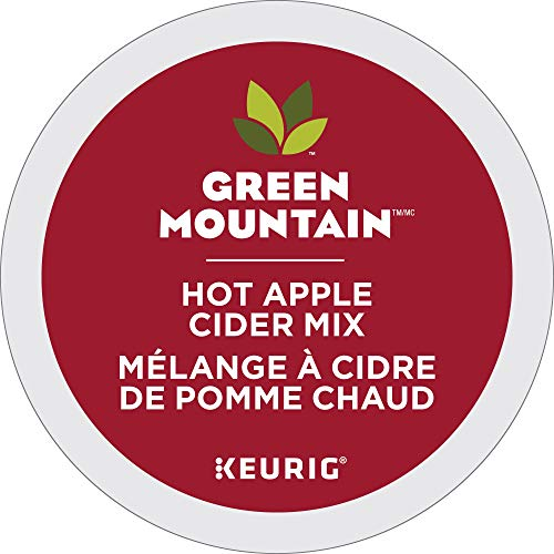 Green Mountain Hot Apple Cider single serve capsules for Keurig K-Cup pod brewers, 24 Count