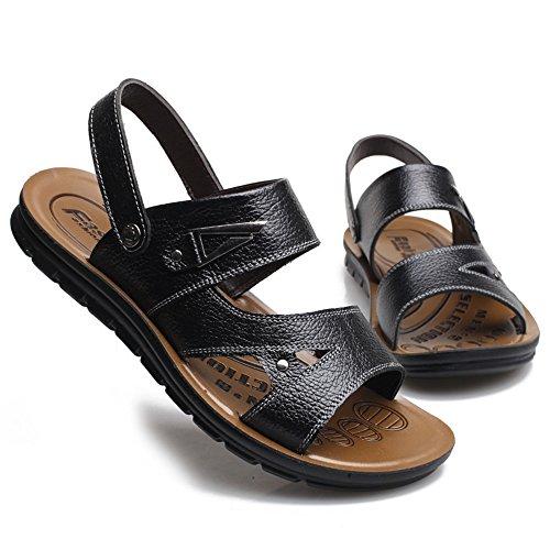 Sandali 2 da al libero uomo 3 il Black open scarpe Brown casual per all'aperto toe adatti Size 42 EU chiuso tempo per Xiaoqin e Color dFpq1d