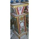 RM Meenakari Work Marble Stone Tulsi Pot Kyari Puja Special For Home Garden Decor