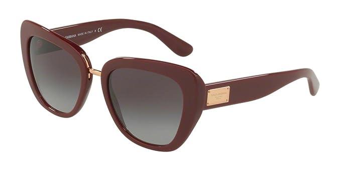 9fd40c85bd81e Dolce   Gabbana 0DG4296 30918G, Montures de Lunettes Femme, Rouge  (Bordeaux Greygradient