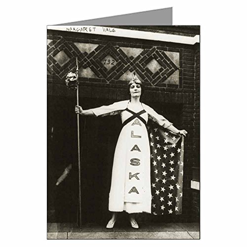 Card Aka (Six 5x7 Vintage Historic Greeting Cards of Suffragist Margaret Vale aka Mrs. George Howe, niece of President Wilson in Suffragette Parade, New York 1915.)