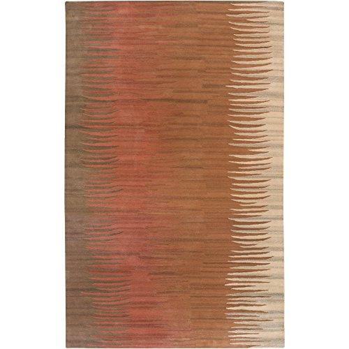 (Surya B. Smith Mosaic MOS-1004 Contemporary Hand Tufted 100% New Zealand Wool Caramel 8' x 11' Abstract Area Rug)