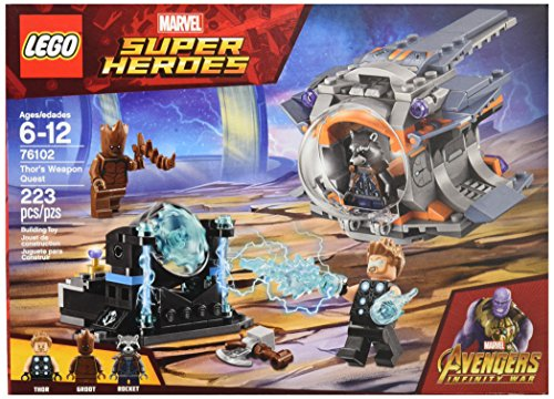 5129I36sRSL - LEGO Marvel Super Heroes Avengers: Infinity War Thor's Weapon Quest 76102 Building Kit (223 Piece)