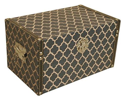 Wald Imports 4014/SM - Caja de almacenaje Decorativa con patrón de Enrejado (4,7' de Ancho x 8,6' de Largo x 4,7' de Alto)